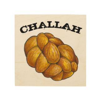 Challah Bread Jewish Holiday Cuisine Food Kitchen Wood Print