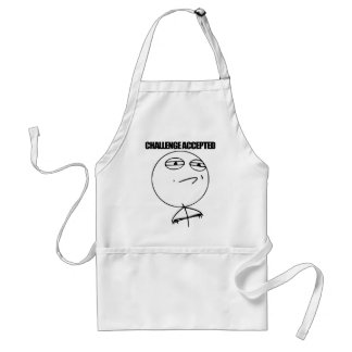 Challenge Accepted Aprons