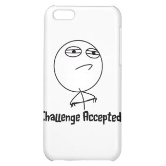 Challenge Accepted Black & White Text iPhone 5C Covers