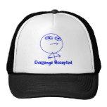 Challenge Accepted Blue & White Text Trucker Hat
