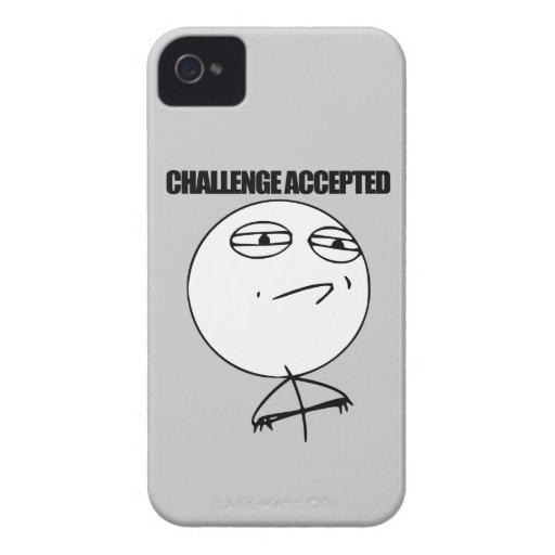 Challenge Accepted Blackberry Bold Case