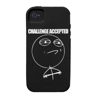 Challenge Accepted Vibe iPhone 4 Cover