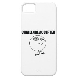 Challenge Accepted iPhone 5 Covers