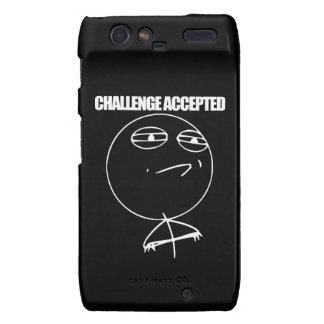 Challenge Accepted Motorola Droid RAZR Cover