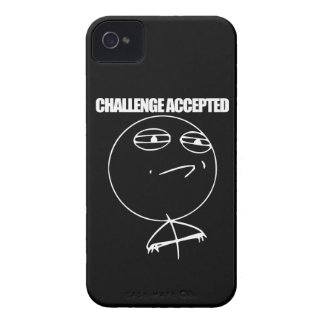 Challenge Accepted iPhone 4 Covers