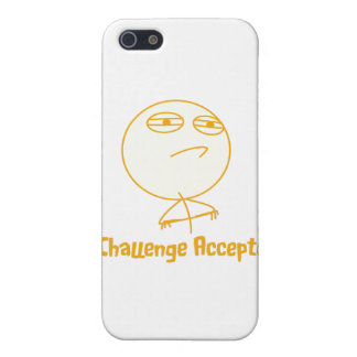 Challenge Accepted (In Orange!) iPhone 5 Cover