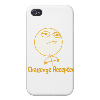Challenge Accepted (In Orange!) iPhone 4 Covers