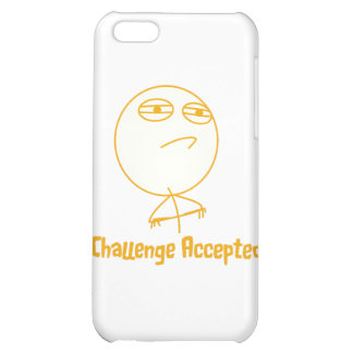 Challenge Accepted (In Orange!) iPhone 5C Cases