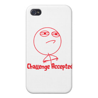 Challenge Accepted (In Red!) iPhone 4 Cover
