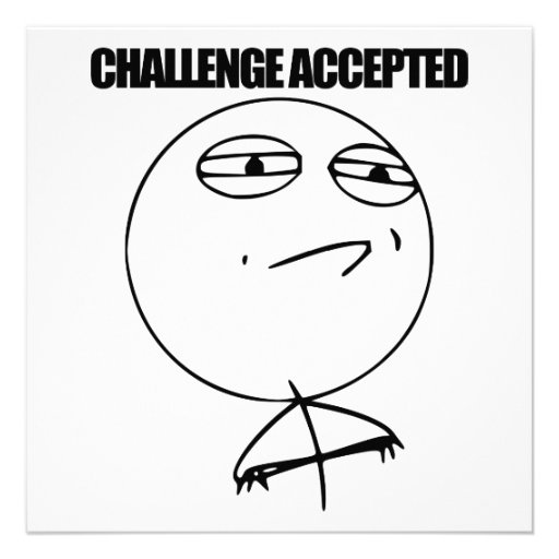 Challenge Accepted Custom Invitation