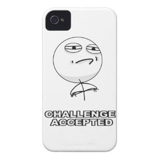 Challenge Accepted iPhone 4 Meme Case Case-Mate iPhone 4 Case