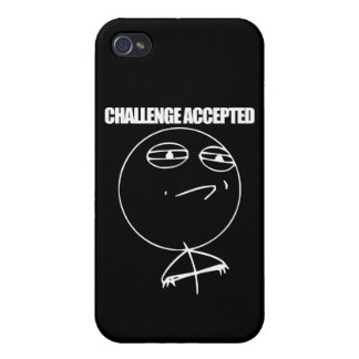 Challenge Accepted Covers For iPhone 4