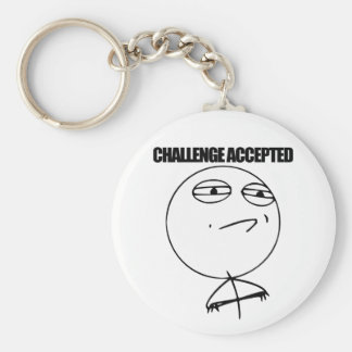 Challenge Accepted Key Chains
