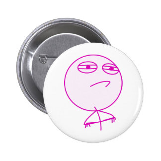 Challenge Accepted Pink White Pinback Button