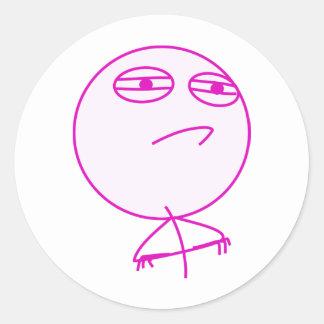 Challenge Accepted Pink & White Round Sticker