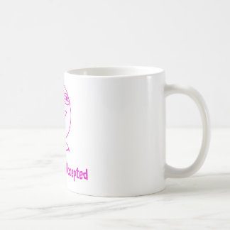 Challenge Accepted Pink White Text Mugs