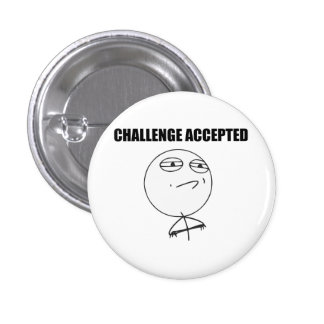 Challenge Accepted Rage Face Comic Meme 3 Cm Round Badge