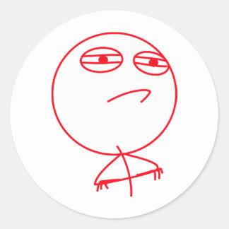 Challenge Accepted Red & White Round Sticker
