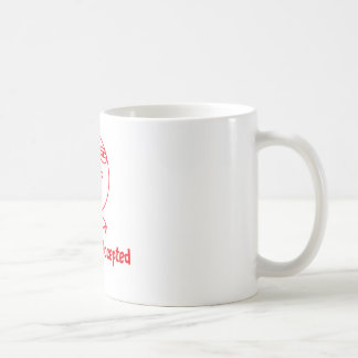 Challenge Accepted Red White Text Mugs