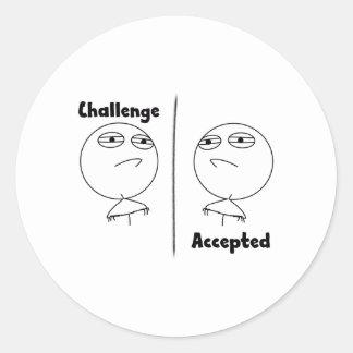 Challenge Accepted! Round Sticker