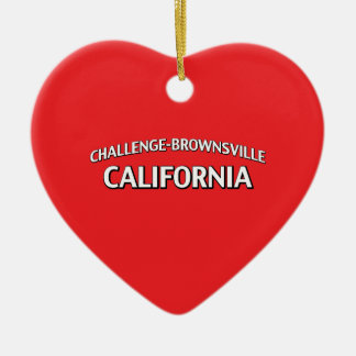 Challenge-Brownsville California Christmas Tree Ornament