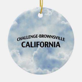 Challenge-Brownsville California Round Ceramic Decoration