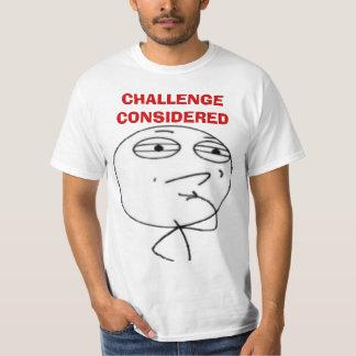 Challenge Considered Internet meme face T-shirts