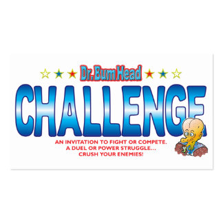 Challenge Dr Bum Head Business Card Templates