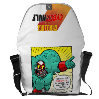 """CHALLENGE of the CYBERWÜLF """"Psycho Libre"""" Courier Bags"""