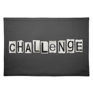 Challenge word concept. placemat