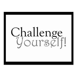 Challenge Yourself! -  Motivational Postcard