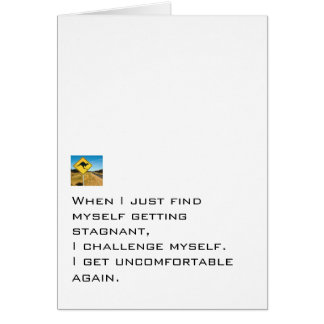 Challenge Yourself Note Card