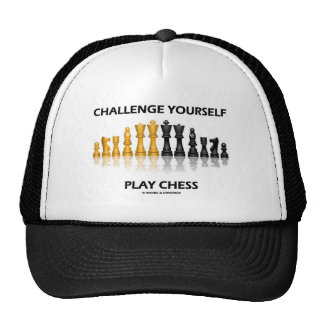 Challenge Yourself Play Chess Mesh Hat