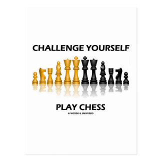 Challenge Yourself Play Chess Post Cards