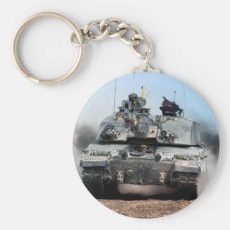 Challenger 2 Main Battle Tank (MBT) British Army Basic Round Button Key Ring
