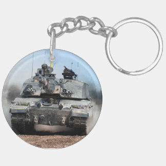 Challenger 2 Main Battle Tank (MBT) British Army Double-Sided Round Acrylic Key Ring