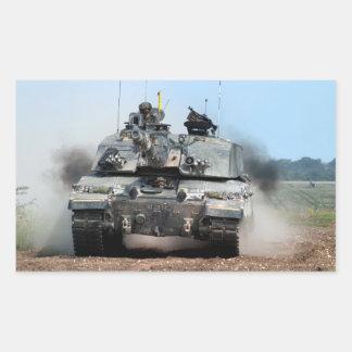 Challenger 2 Main Battle Tank (MBT) British Army Rectangular Sticker