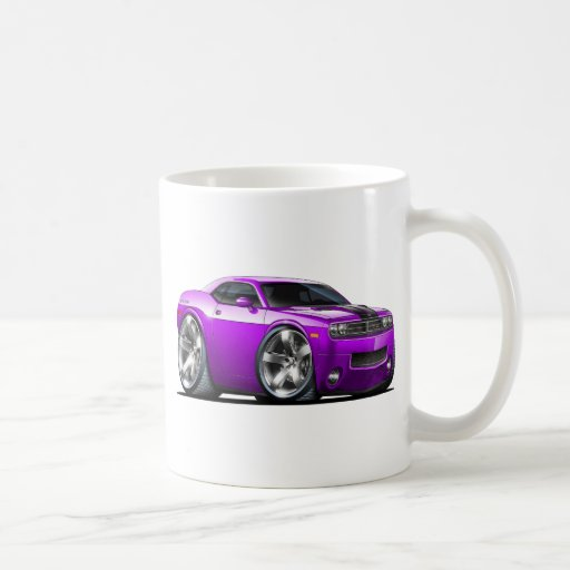 Challenger Purple Car Mugs