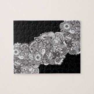 challenging black and white jigsaw puzzle