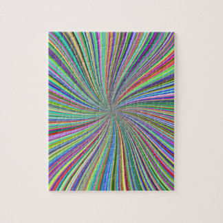 Challenging Colorful Swirling Spiral of Ribbons Jigsaw Puzzles