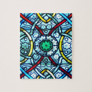 Challenging Elegant Stained Glass Notre Dame Paris Puzzle