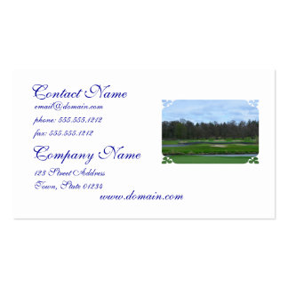 Challenging Golf Course Business Card