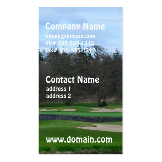 Challenging Golf Course Business Cards