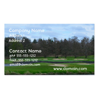 Challenging Golf Course Business Card Templates