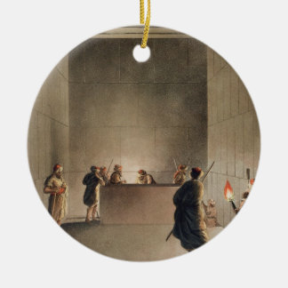 Chamber and Sarcophagus in the Great Pyramid of Gi Christmas Ornament