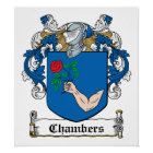 Chambers Family Crest Poster