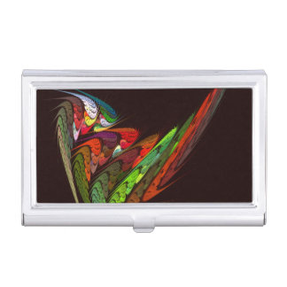 Chameleon Abstract Art Business Card Holder