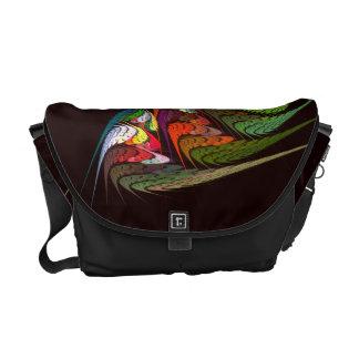 Chameleon Abstract Art Messenger Bag