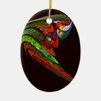 Chameleon Abstract Art Oval Ornament
