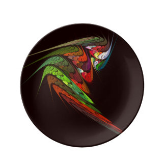 Chameleon Abstract Art Plate